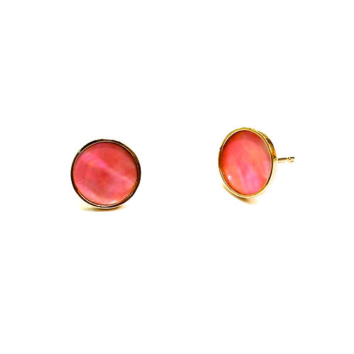 RADEN JEWELRY PIERCED EARRINGS CIRCLE PINK
