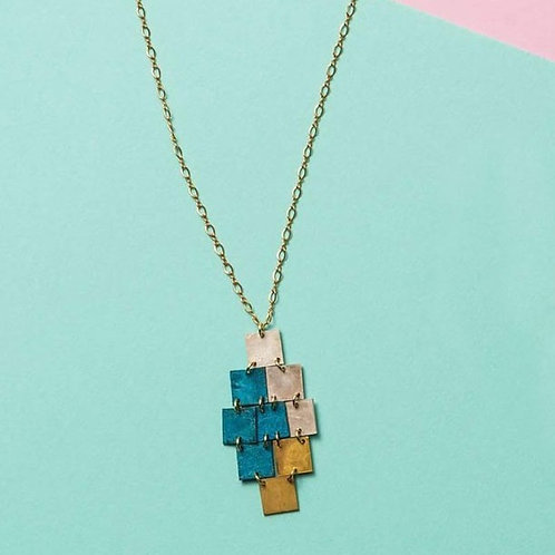 TONE JEWELRY SQUARE NECKLACE