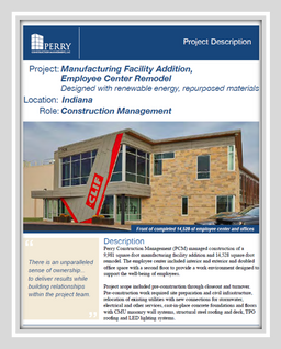Food Production facility and Employee Center