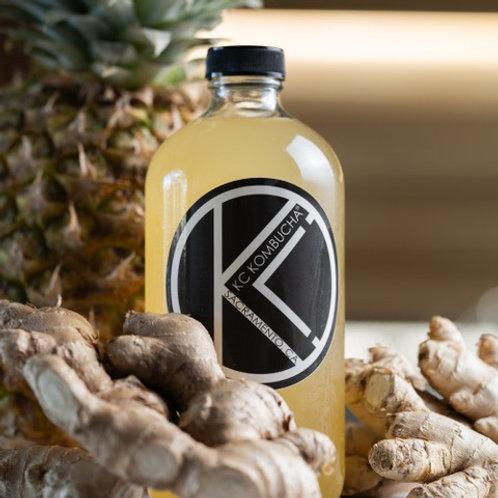 16oz Pineapple Ginger | KC Kombucha