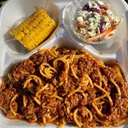 Vegan Spaghetti Plate | Good Vibes Vegan Cafe*