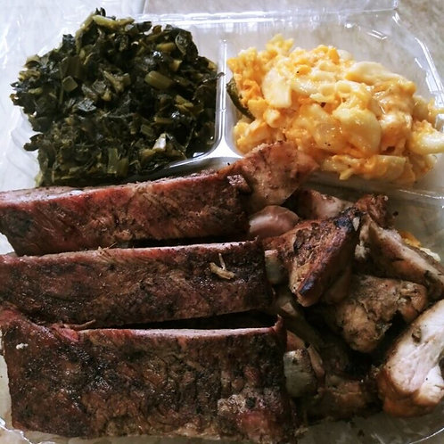 Chicken & Ribs Plate | Momo's Meat Market*