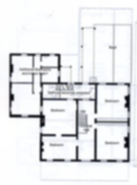 Upper story floorplan of Edwards Place
