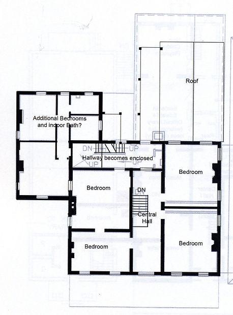 Upper story floorplan of Edwards Place