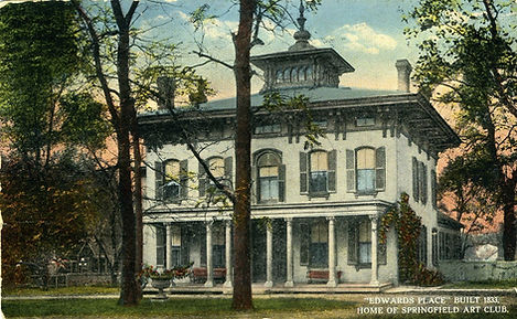 Postcard of Edwards Place from early 20th century.