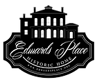 Logo of Edwards Place. An italianate mansion with Edwards Place Historic Home written underneath.