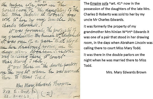 Image of a document written in ink pen about the courting couch.