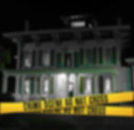 """Edwards Place exterior with crime tape across front reading """"Crime Scene Do Not Cross"""""""