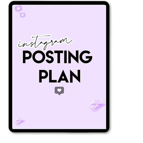 Instagram Posting plan