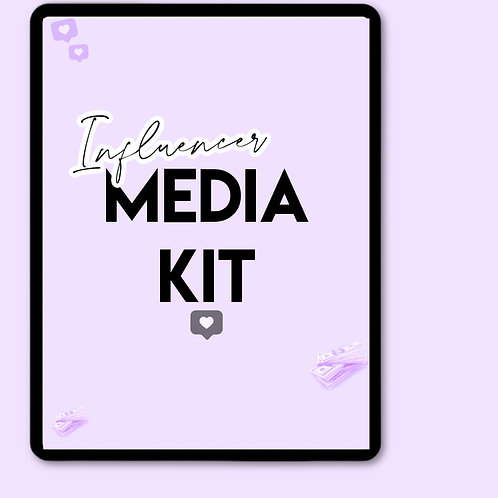 Influencer media kit