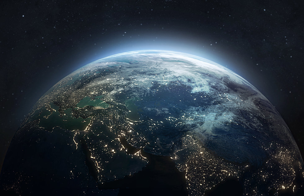 Earth at he night. Abstract wallpaper. C