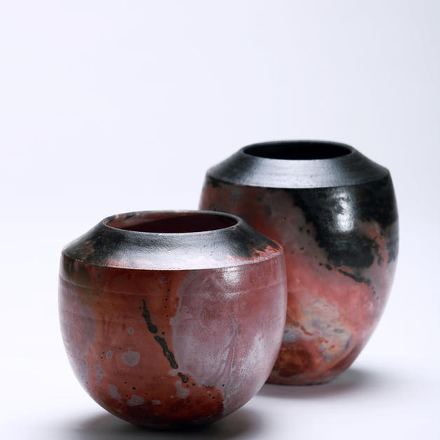 Claire Molloy Saggar fired vessels