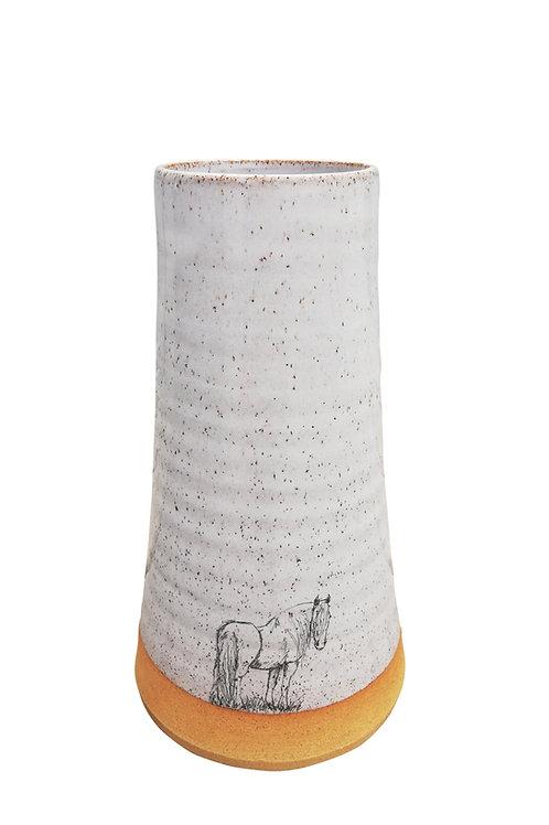 Irish Cob Horse Vase