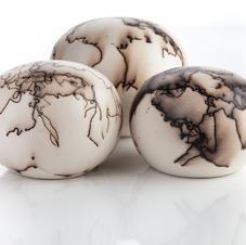 Horsehair embellished globes