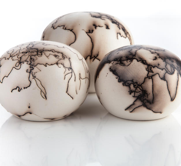 Horsehair embellished globes