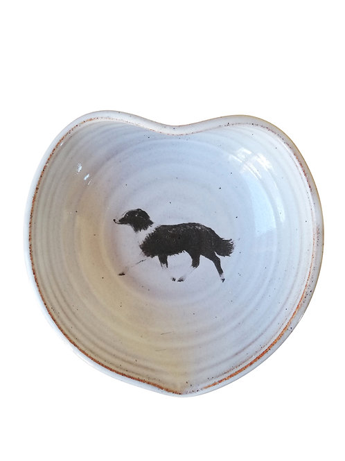 Dog Heart Shaped Bowl