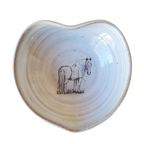 Irish Cob Horse Heart Shaped Bowl