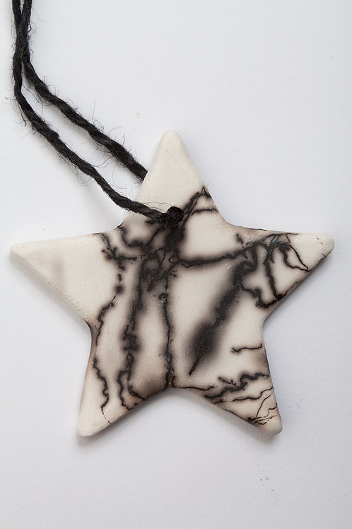 Star Ornament Horsehair embellished