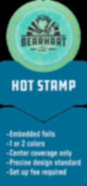 Disc Golf Hot Stamp Options Custom Design