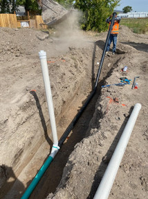 Installing Water Pipe