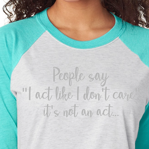 Raglan 3/4 Sleeve Quote Shirts
