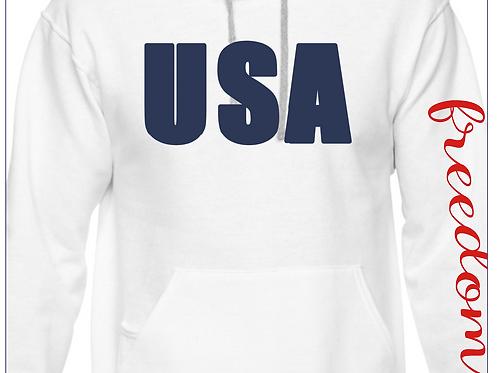 USA Flag Rhinestone Freedom Hoody