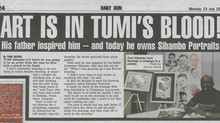 Daily Sun newspaper features Sibambo Portraits