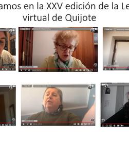 Hemos leído el Quijote en la Lectura Virtual  del Círculo de Bellas Artes, lectura inclusiva!!!!!