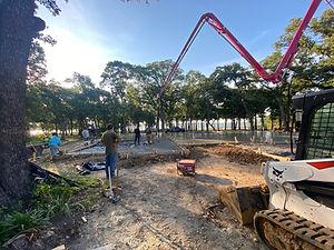 Concrete pour lake lot - White Cap Construction