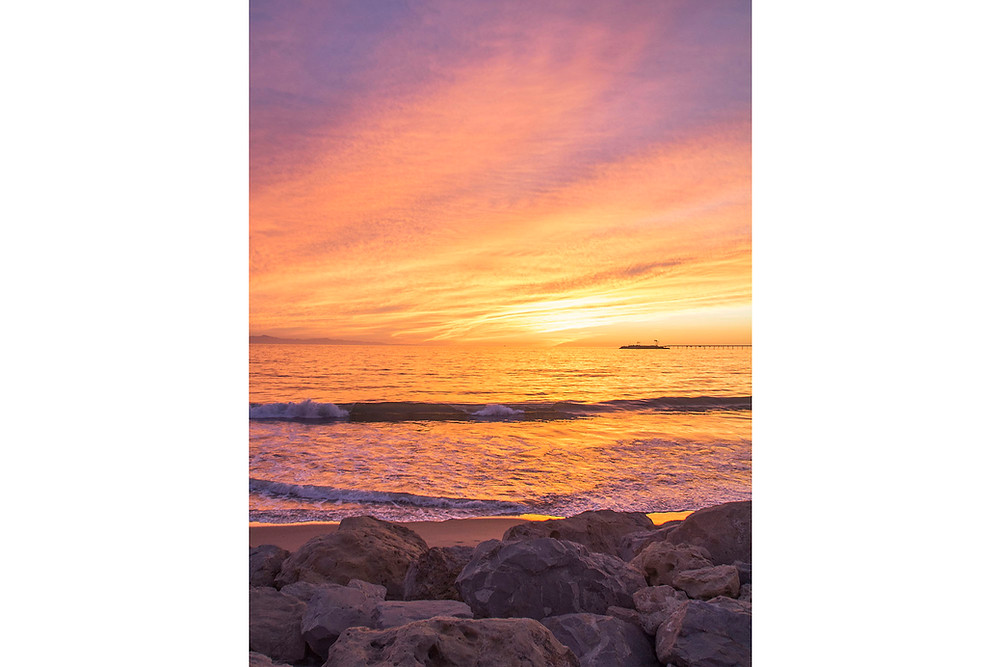 Glowing sunset in Summerland California