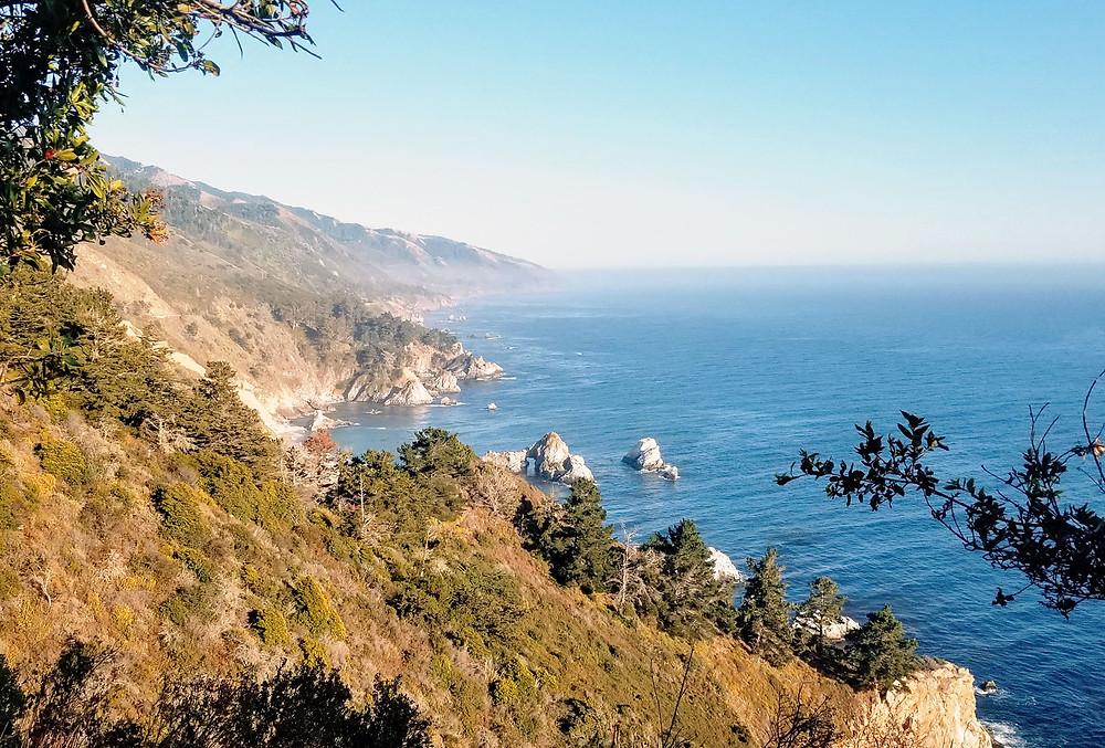 Coastal highway overlook in Big Sur, CA