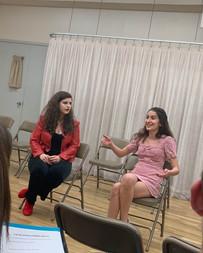Talkback at the reading of Nina's original musical, A Love Story (With Supernatural Roadblocks)
