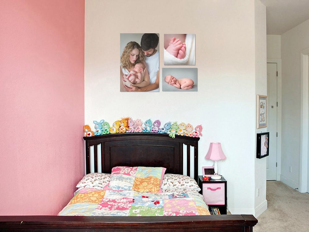 newborn baby girl bedroom wall gallery display