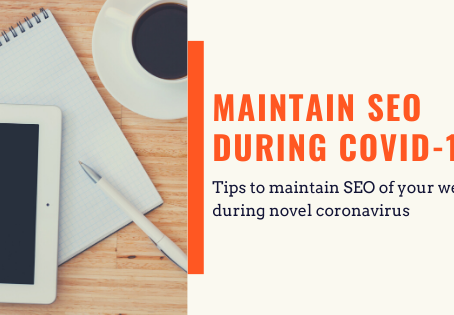 How to Maintain Your SEO During the Pandemic COVID 19