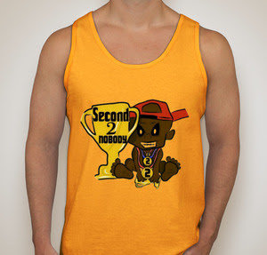 """Limited Edition """"ORANGE"""" Second 2 Nobody Tank Top"""