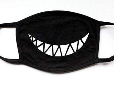 Monster Smile Teeth 2 Layer Cotton Fashion Face Mask