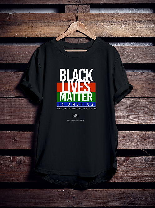 """BLACK LIVES MATTER in America"" TEE : 2020 SERIES"
