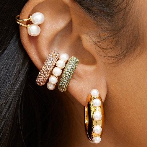 Boho White Imitation Pearl Earrings