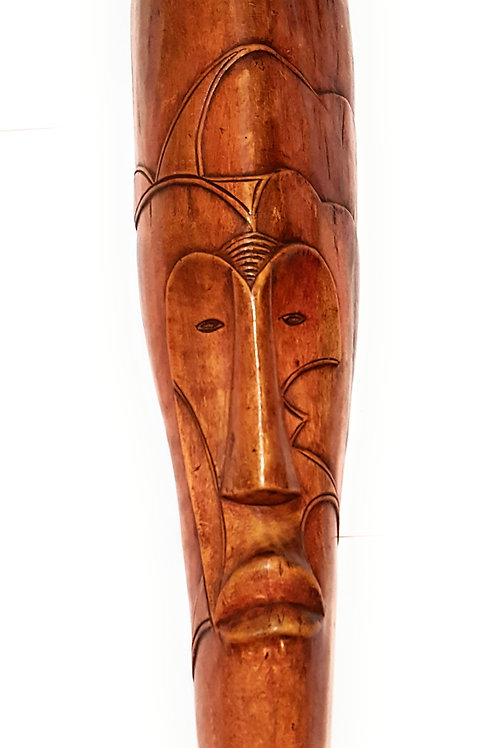 "1 Piece of 18"" African Gabon Cameroon Wood Fang Mask: Brown"