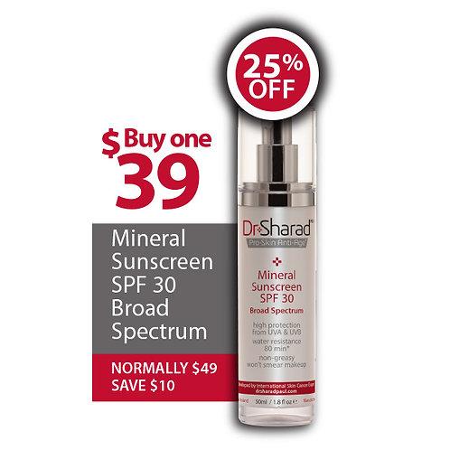 Mineral Sunscreen - SPF 30 - Broad Spectrum