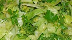 Opening-28 Salad of lettuce, black beans, broccoli with honey lime dressing.jpg