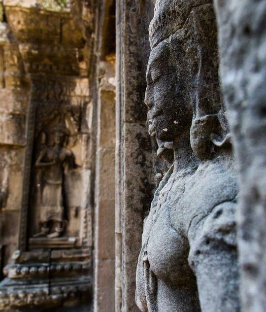Carvings in stone, Angkor Wat