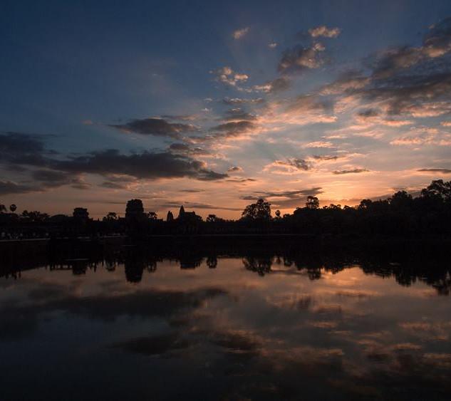 Sunrise in Siem Reap, Cambodia