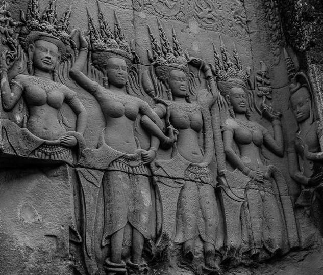 Carvings, Angkor Wat