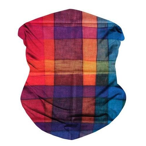 Colorful Plaid Seamless Bandana Mask