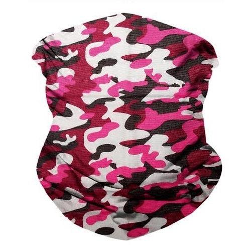 Pink Camo Seamless Bandana Mask