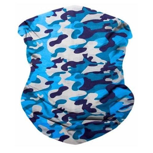 Light Blue Seamless Bandana Mask