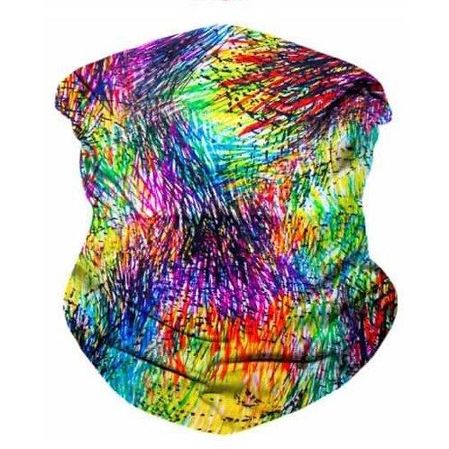 Crazy Crayons Seamless Bandana Mask