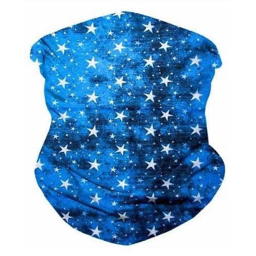 Rockstar Blue Seamless Bandana Mask