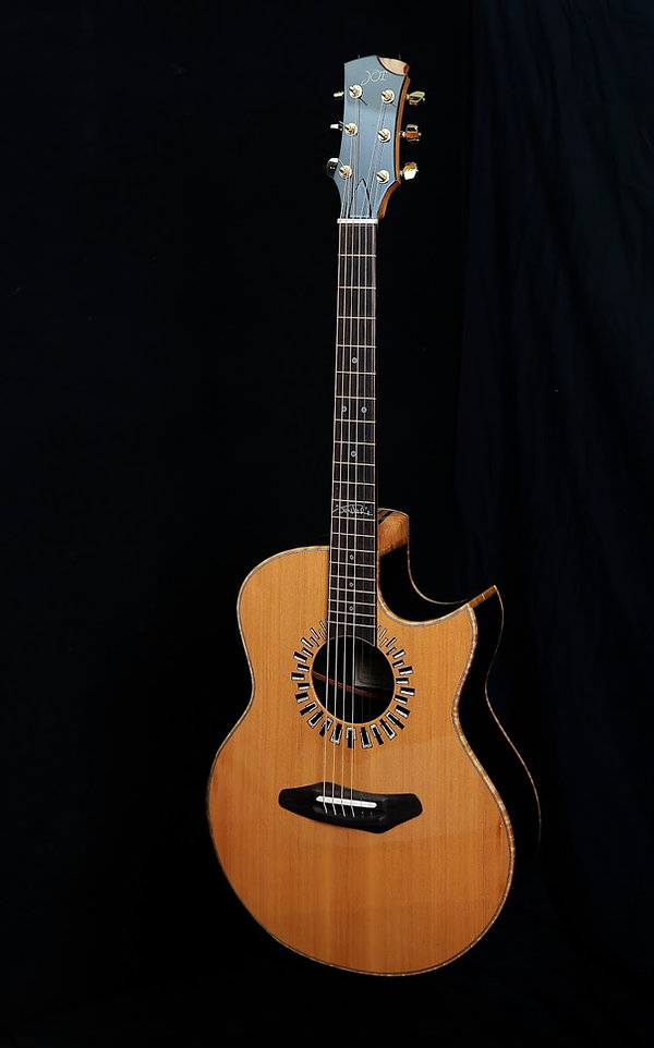 Harmonic Hendrix Home guitar right view.